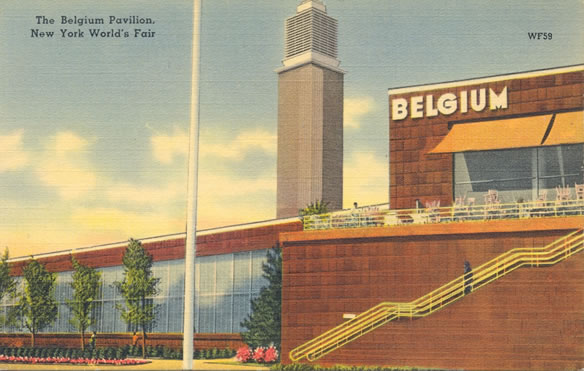 The Belgian Pavilion, 1939 New York World's Fair Postcard
